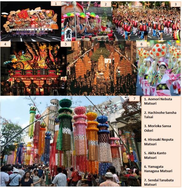 Festivales de Tohoku