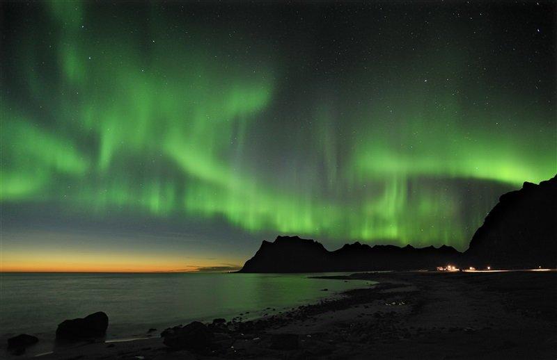 Aurora boreal en la Laponia noruega