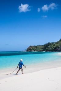 De pesca en las Seychelles