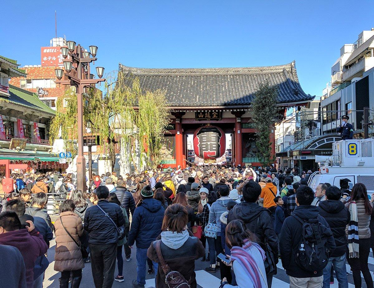 Hatsumode en Senso-ji