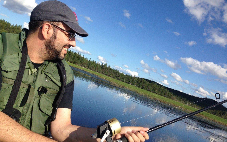 Pescando en la Laponia sueca