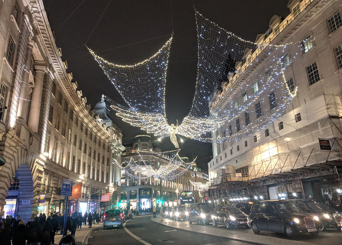 Regent Street en Navidad