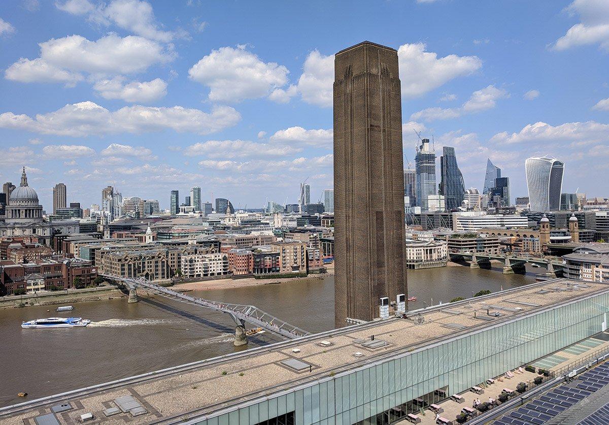 Vistas de la City desde la Tate Modern